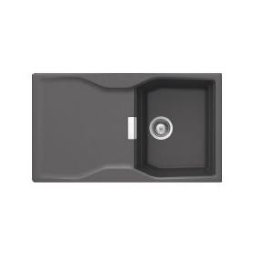 LAVELLO INCASSO SCHOCK IMAGO D100AP12 ANTIBATTERICO 1 VASCA + G, 86x50 COL NERO STEEL12