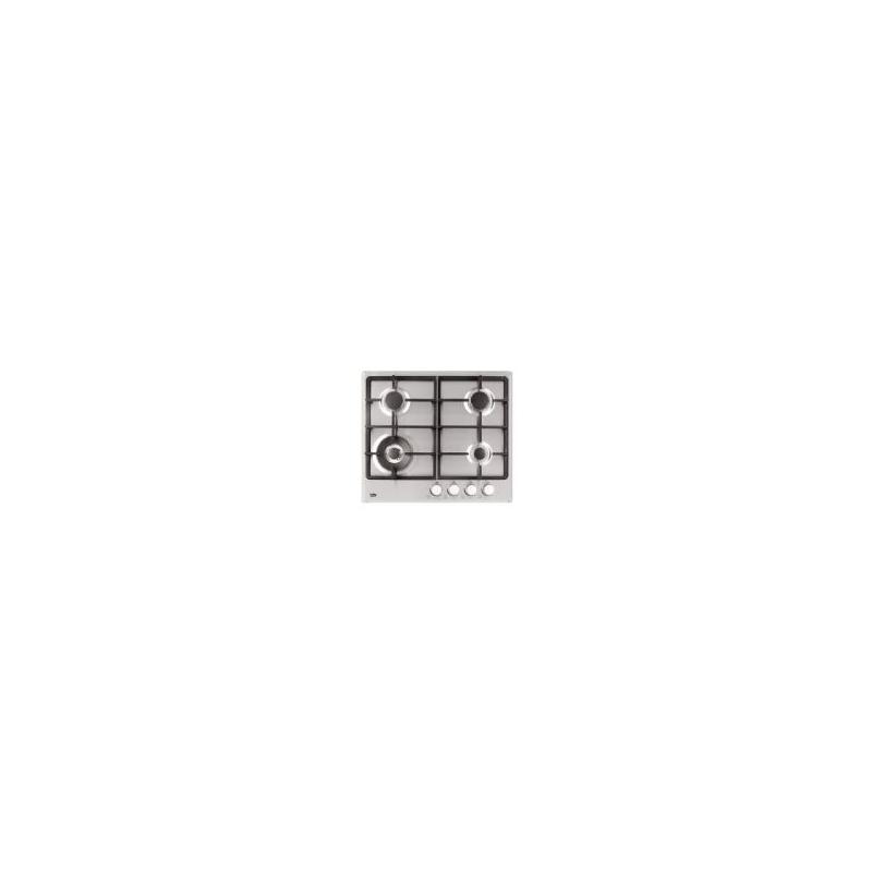PIANO COTTURA BEKO HIMW64225SX CM 60 INOX - VALVOLATO - 3 FUOCHI + 1 WOK - GARANZIA ITALIA-