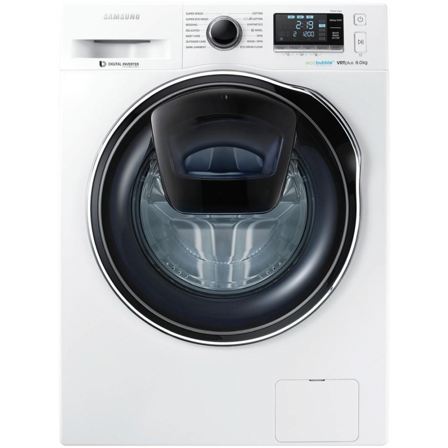 Samsung ww80k6210rw lavatrice a carica frontale slim 45 cm for Lavatrice hoover 13 kg