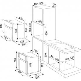 FORNO DA INCASSO FRANKE SMART GLASS SG62WH/N 165052 6 FUNZIONI VETRO BIANCO CLASSE A