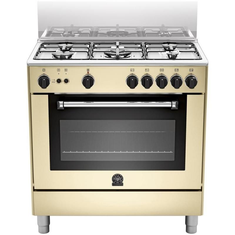 Cucina a gas la germania am85c71ccr 13 5 fuochi a gas forno a gas 80x50 cm colore crema - Cucine a gas samsung ...