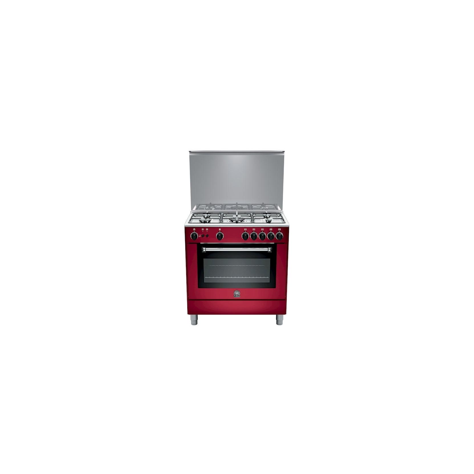 Cucina a gas la germania am85c71cvi 5 fuochi a gas forno a gas 80x50 cm colore vino elettrovillage - Cucina forno a gas ...