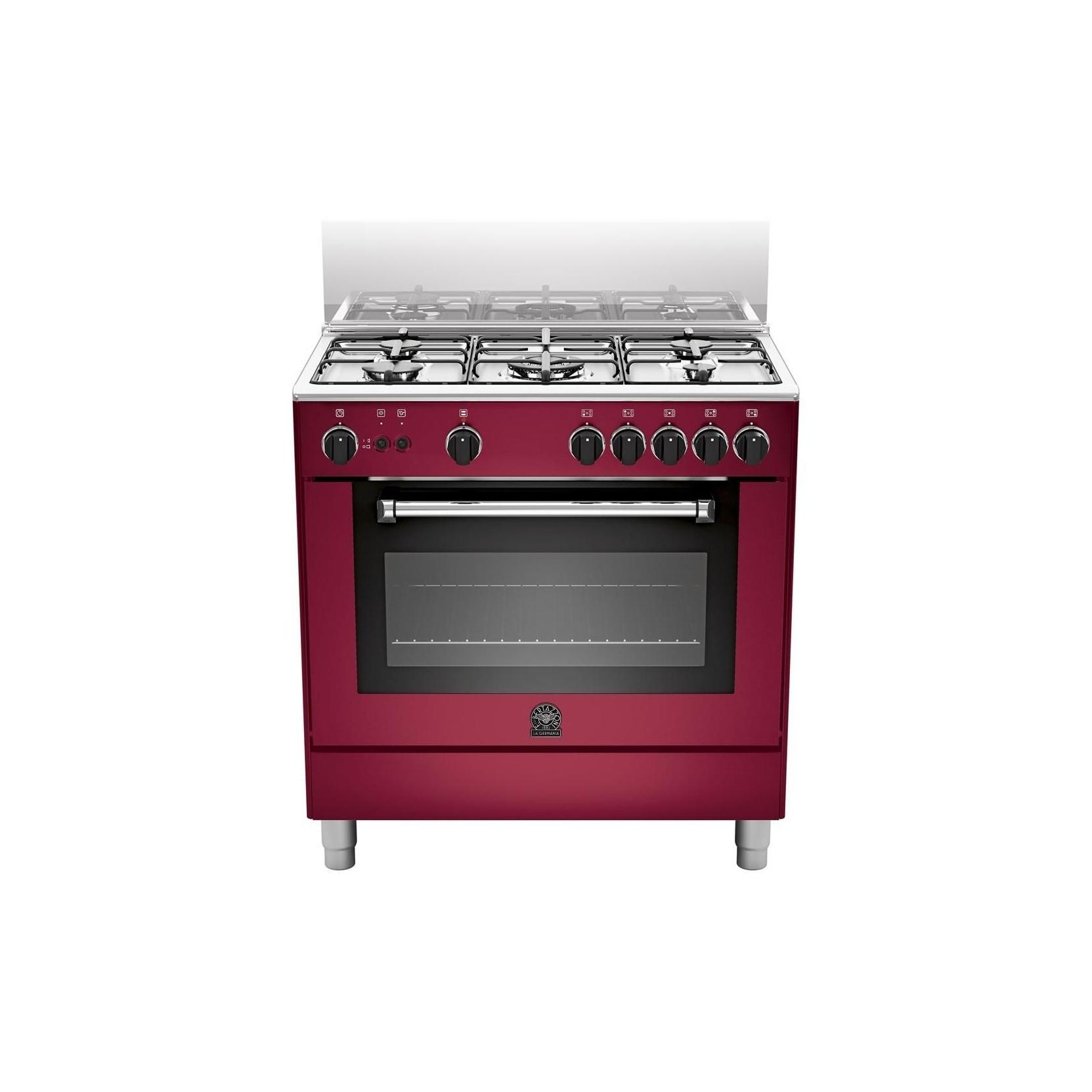 Cucina a gas la germania am85c71cvi 5 fuochi a gas forno a gas 80x50 cm colore vino elettrovillage - Cucina con forno a gas ventilato ...
