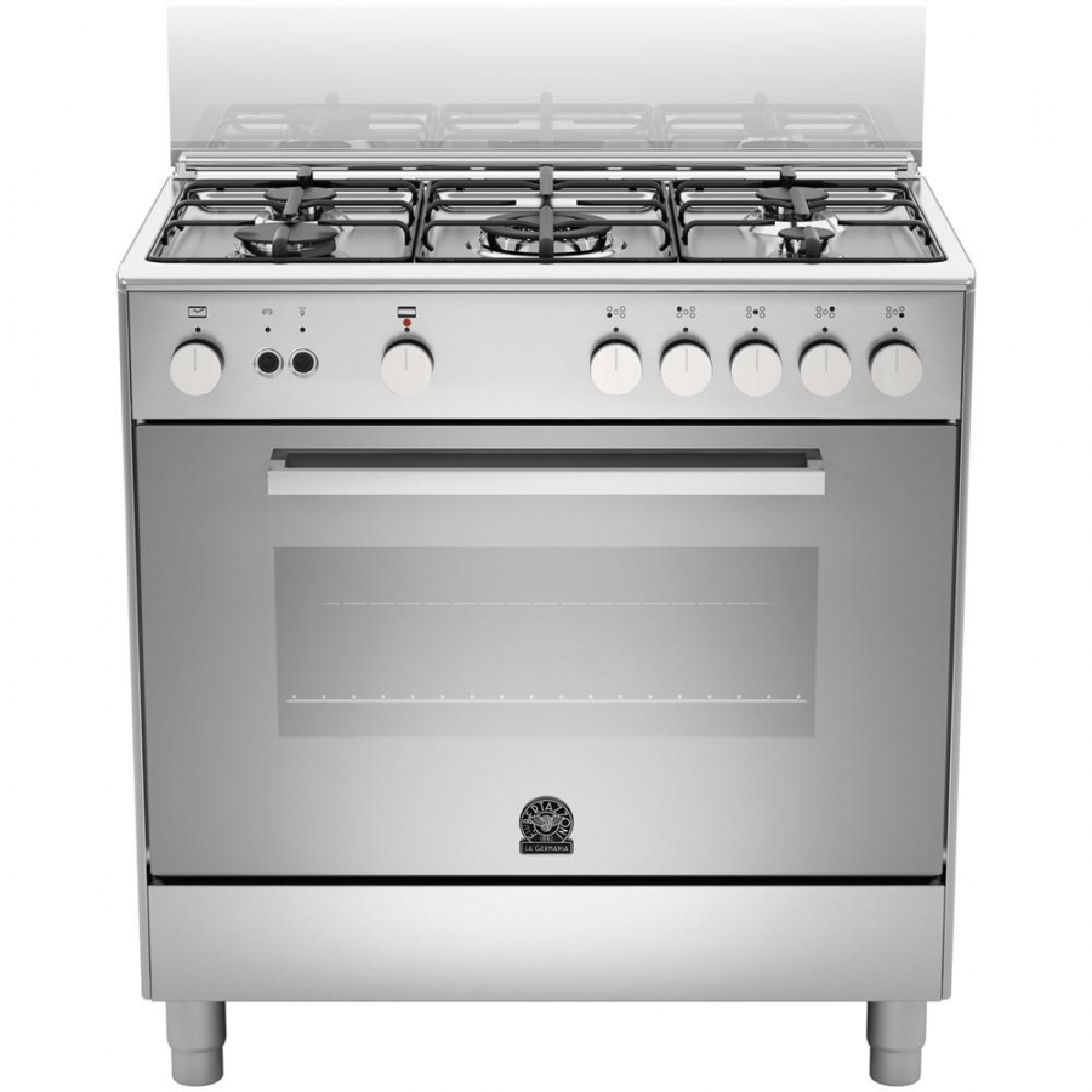 Cucina la germania tu85c61dxt 80x50 5 fuochi a gas forno elettrico colore inox elettrovillage - Cucina elettrica de longhi ...