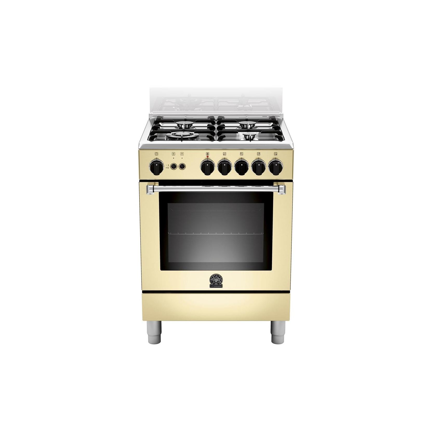 Cucina la germania am64c71ccr 60x60 colore crema 4 fuochi - Forno incasso a gas ventilato ...