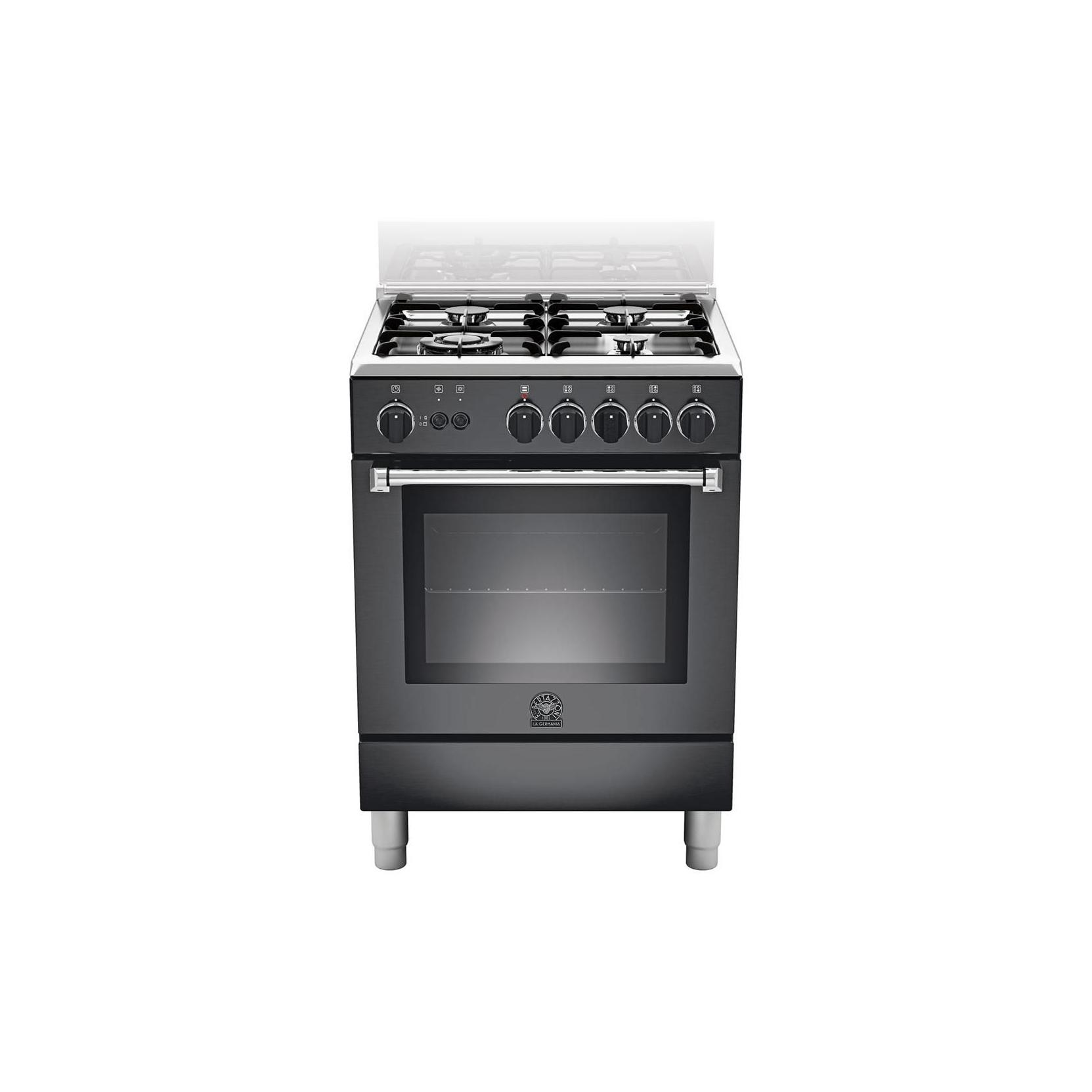 Cucina la germania am64c71cne 60x60 colore nero 4 fuochi a gas forno a gas ventilato - Cucina forno a gas ...