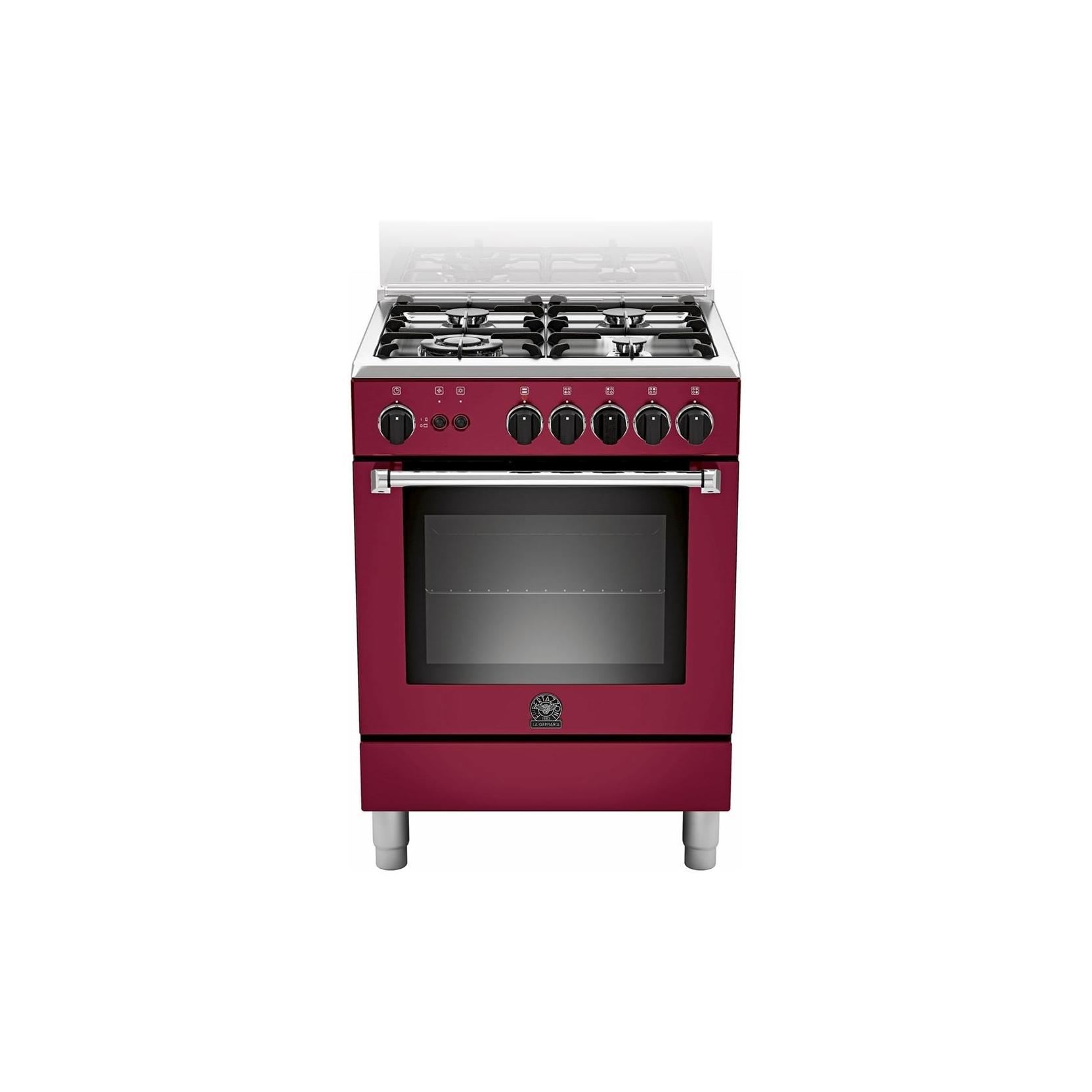 La germania cucina am64c71cvi 4 fuochi a gas colore vino 60x60 cm forno a gas elettrovillage - Cucine a gas la germania ...