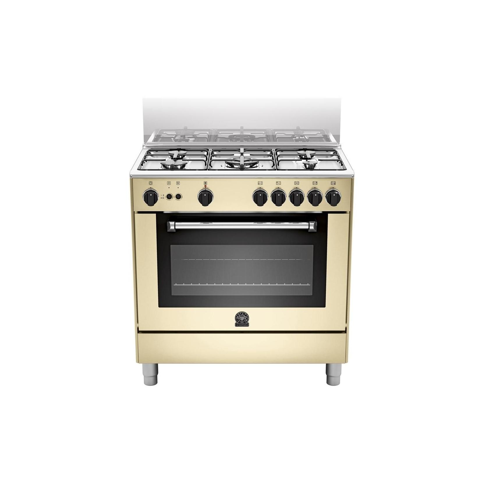 Cucina la germania am85c61ccrt 5 fuochi a gas forno elettrico 80x50 cm colore crema elettrovillage - Cucine a gas samsung ...