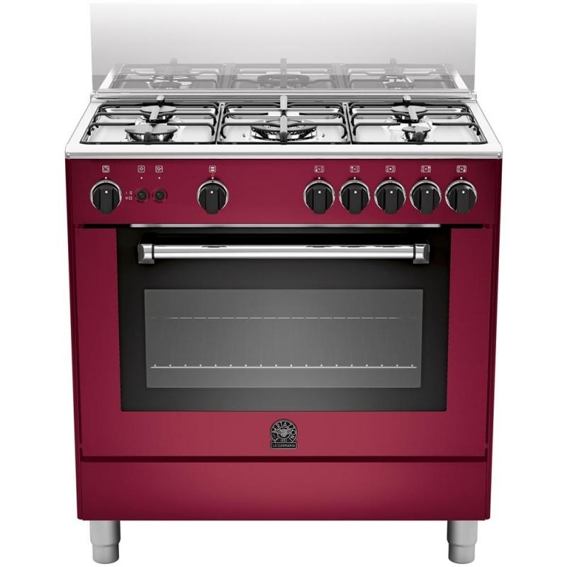 Cucina la germania am85c61cvit 5 fuochi a gas forno elettrico 80x50 cm colore vino elettrovillage - Cucine a gas la germania ...