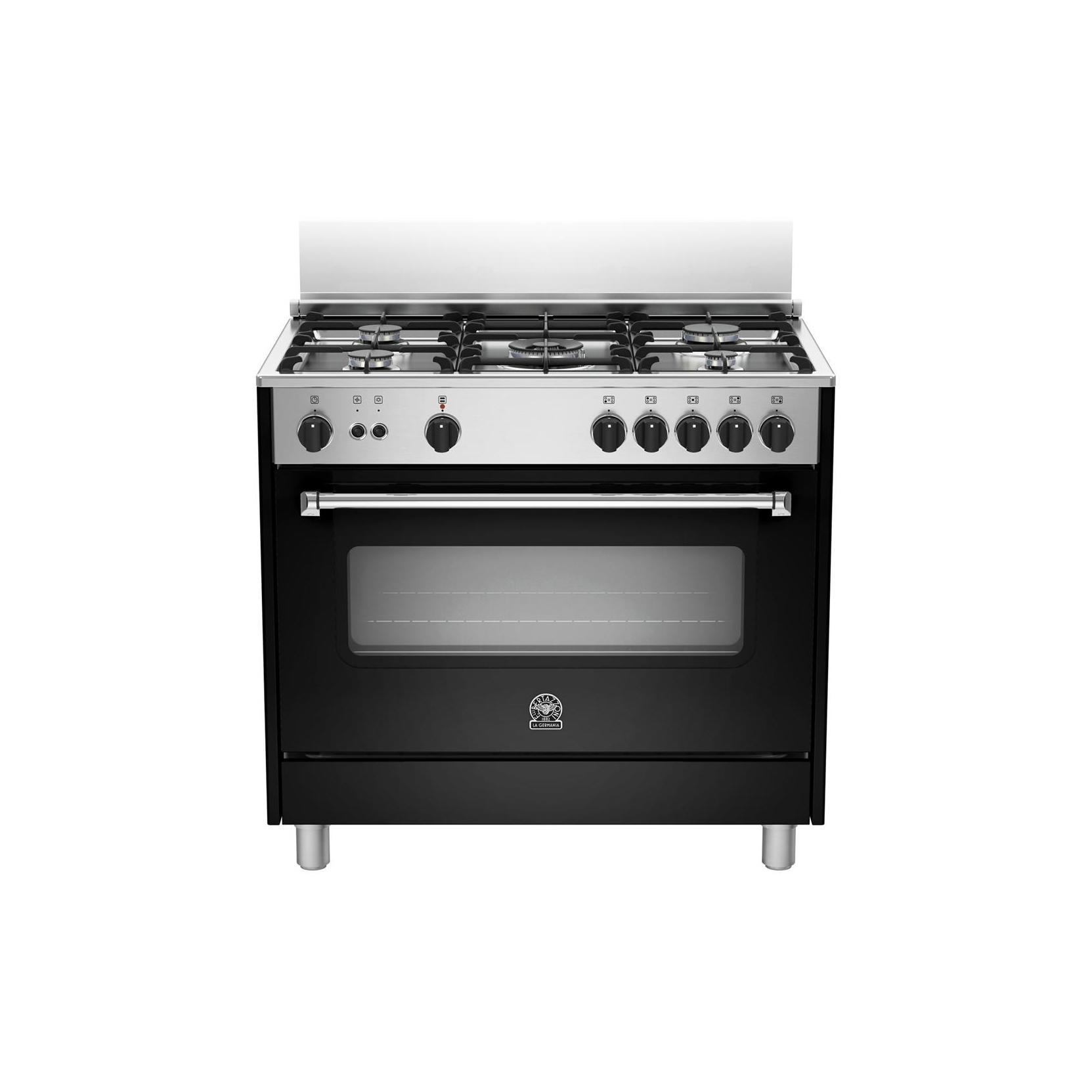 Cucina la germania ams95c61cne cm 90x60 colore nero forno elettrico ventilato elettrovillage - Cucine a gas la germania ...
