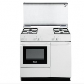 CUCINA DE LONGHI SGW854N BIANCA 86X50 4 FUOCHI FORNO GAS TERM- COPERCHIO IN CRISTALLO- IMMEDIATAMENTE DISPONIBILE
