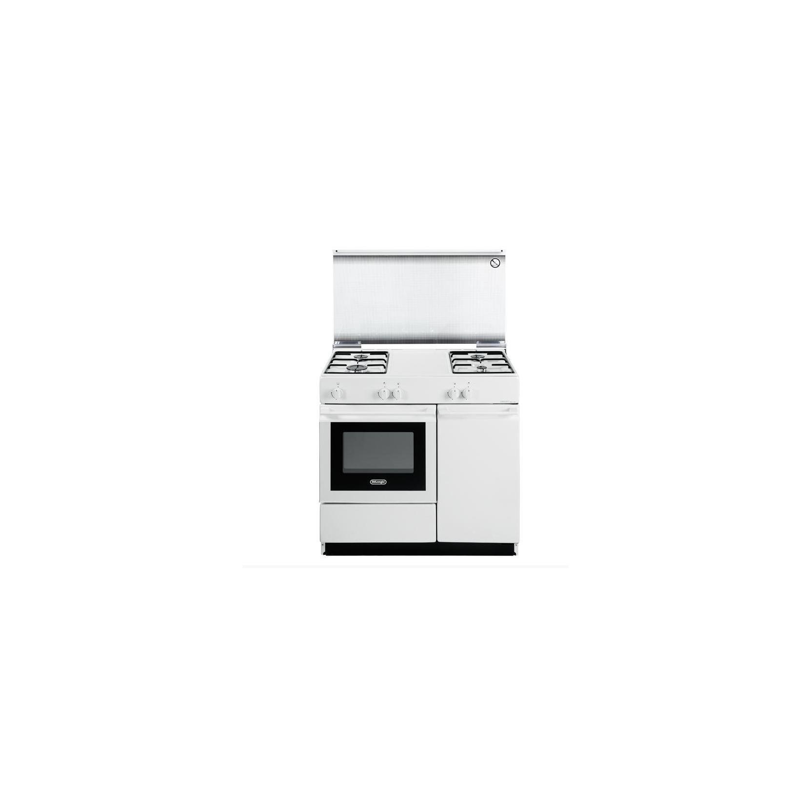 Cucina de longhi sgw854n bianca 86x50 4 fuochi forno gas term coperchio in cristallo - Cucina elettrica de longhi ...