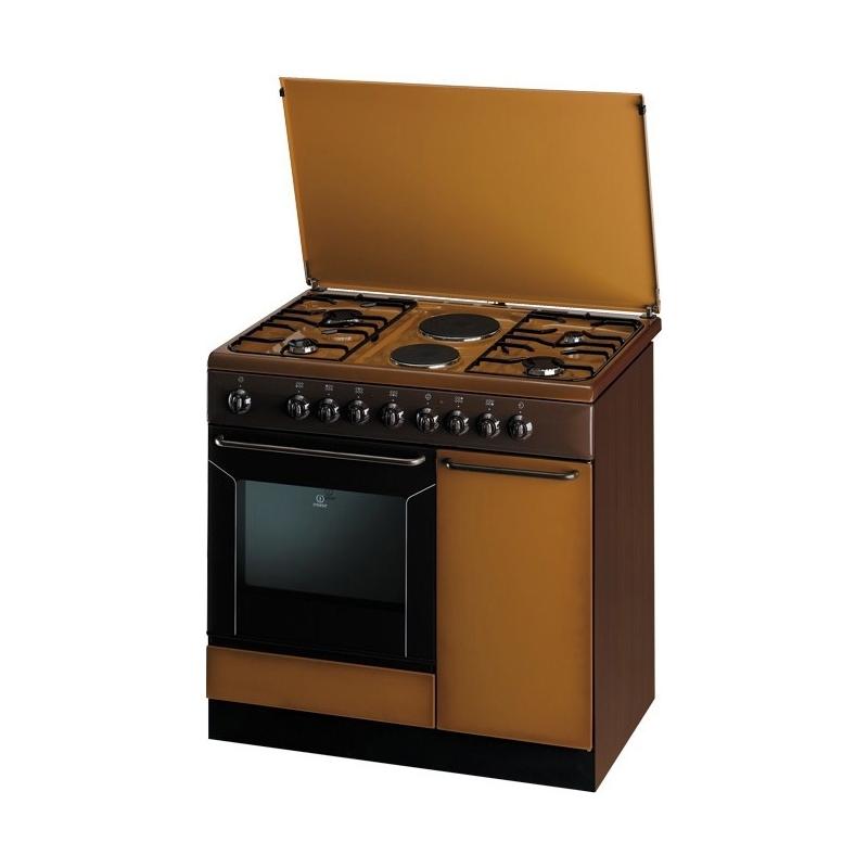 Cucina indesit k9b11sb b i 90x60cm 4 fuochi 2 piastre - Cucine con piastre elettriche ...