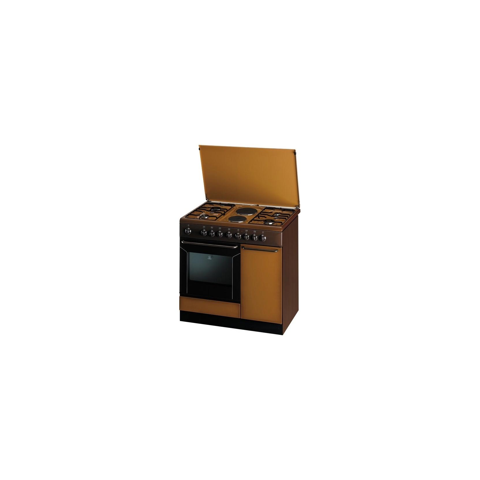 Cucina indesit k9b11sb b i 90x60cm 4 fuochi 2 piastre elettriche colore coppertone - Cucine a gas indesit ...