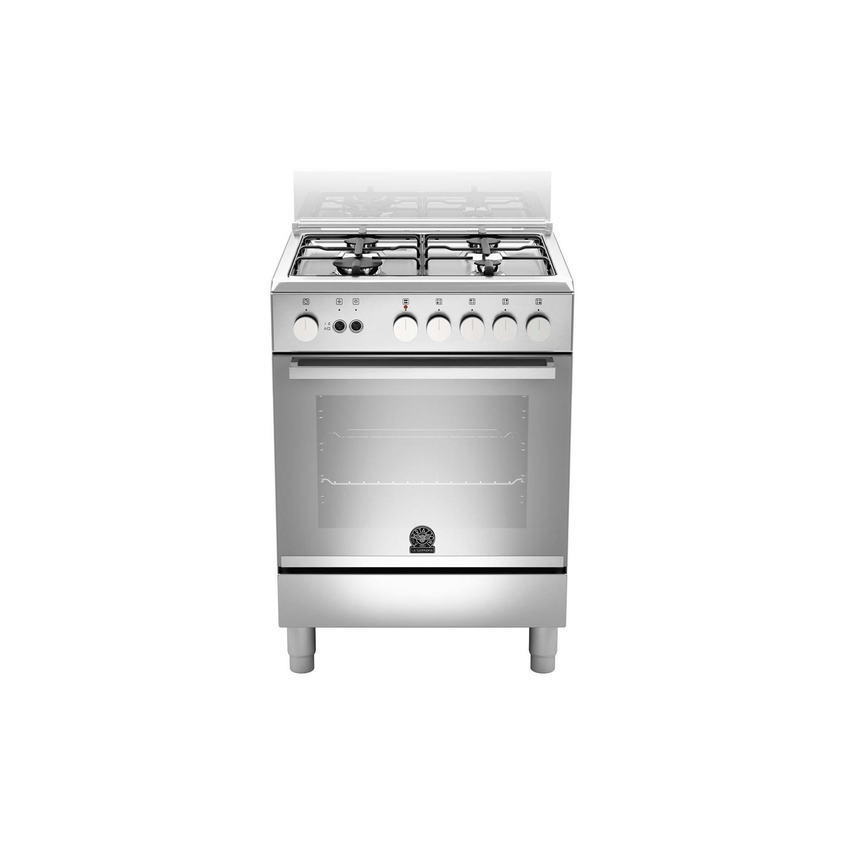 Cucina la germania tu64071dx 60x60 4 fuochi a gas forno gas ventilato colore inox garanzia - Cucina con forno a gas ventilato ...