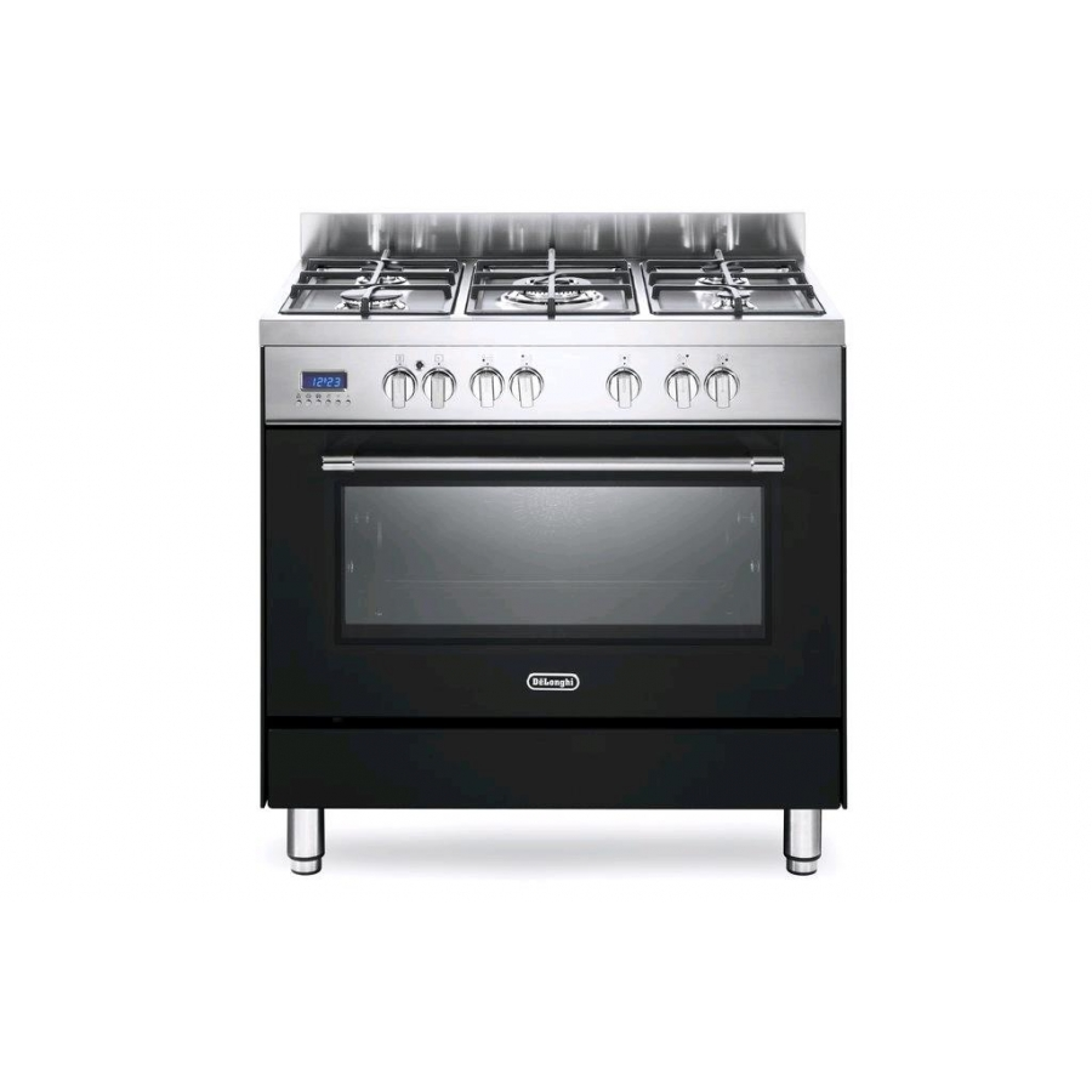 De longhi pro96ma cucina a gas forno elettrico multifunzione 90x60cm classe a antracite garanzia - Cucina elettrica de longhi ...