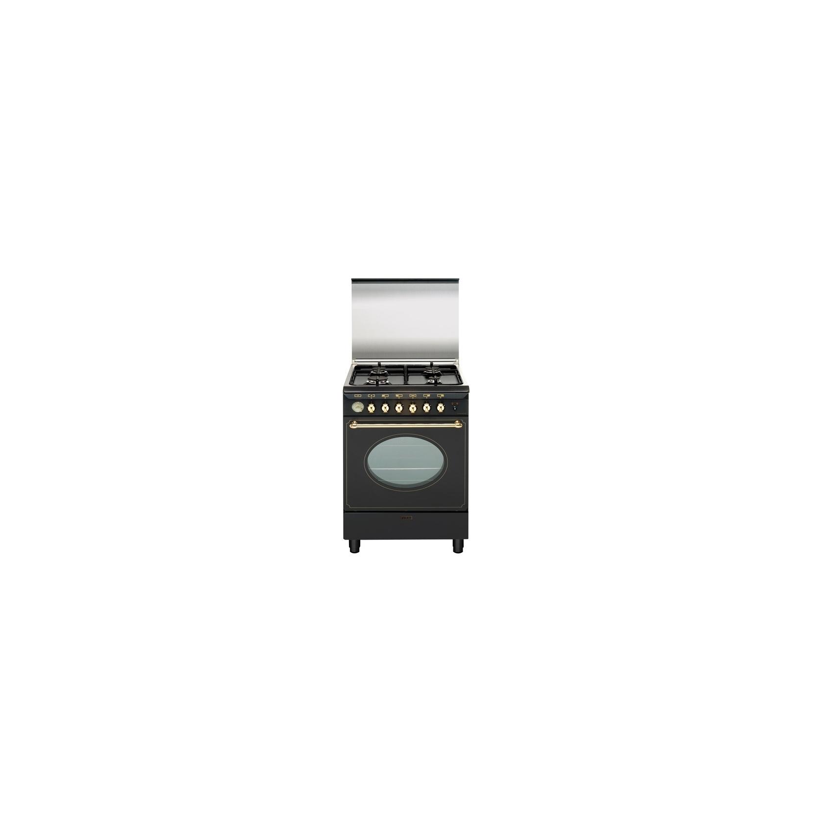Glem cucina a gas ua66vr3 4 zone cottura forno elettrico 60x60cm colore nero garanzia italia - Whirlpool cucine a gas con forno ...