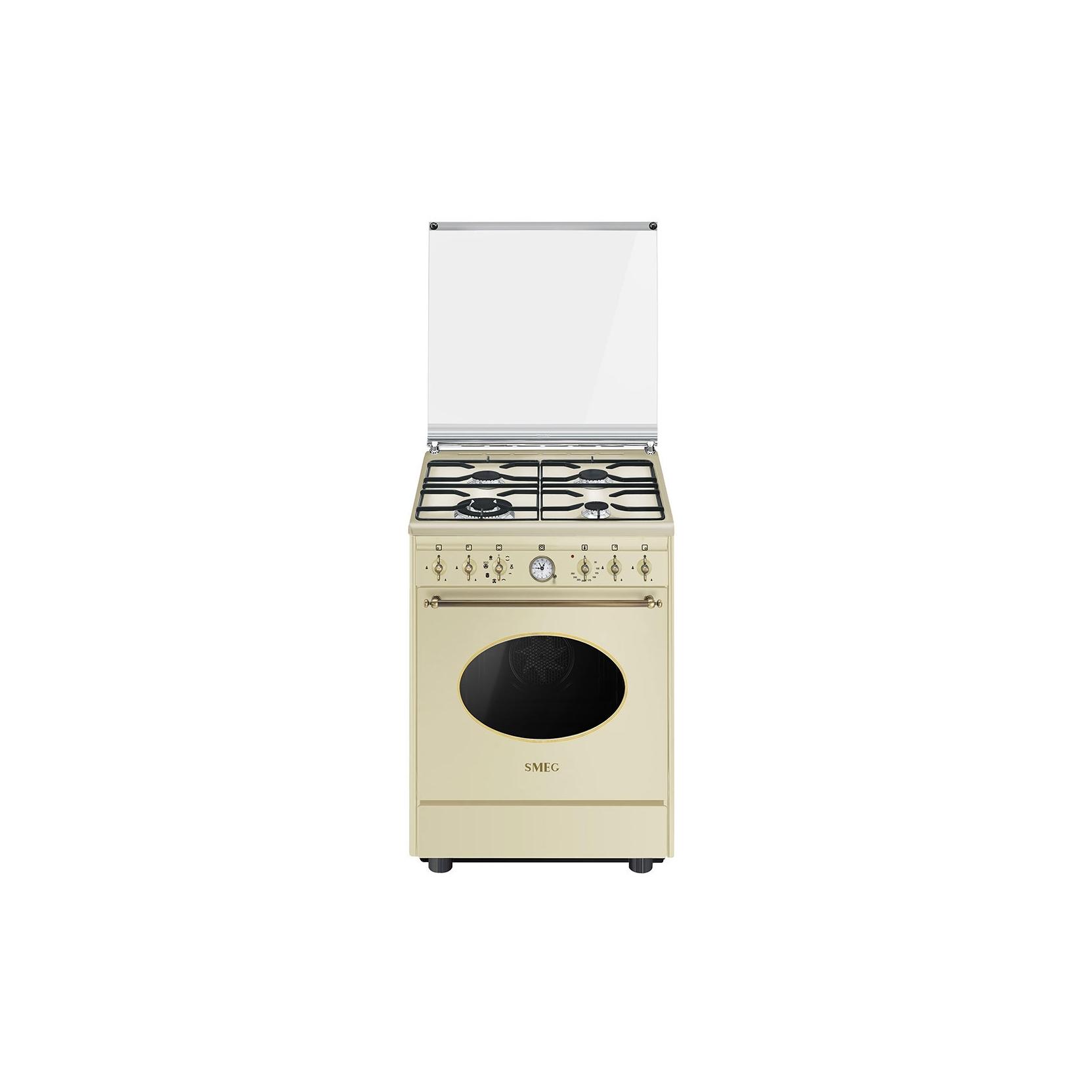 Smeg cucina co68gmp9 4 fuochi forno elettrico multifunzione classe a cm 60x60 colore crema - Cucina a gas smeg ...