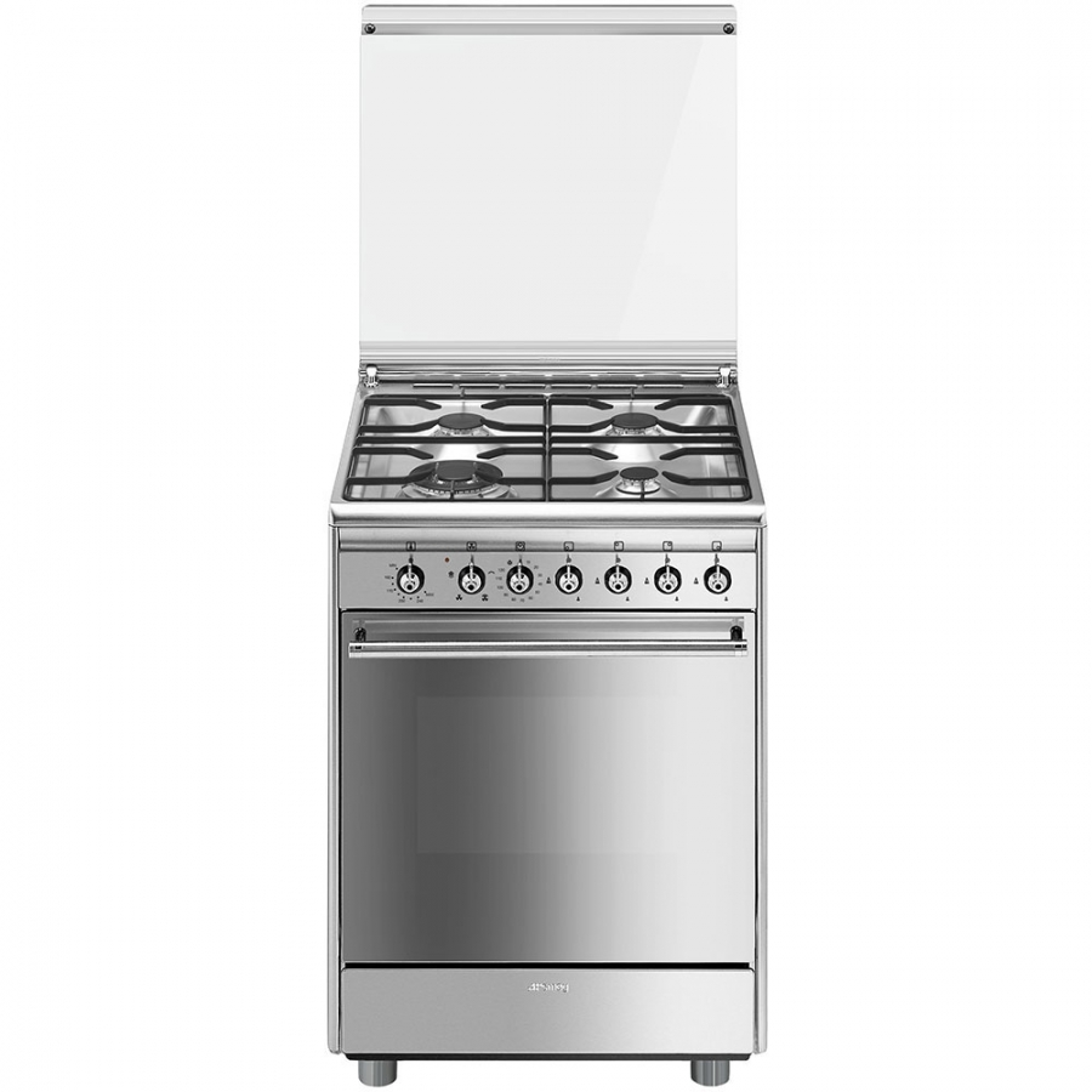 Cucina smeg cx61gv9 4 fuochi a gas forno a gas dimensione 60 x 60cm colore inox classe a - Cucina a gas smeg ...