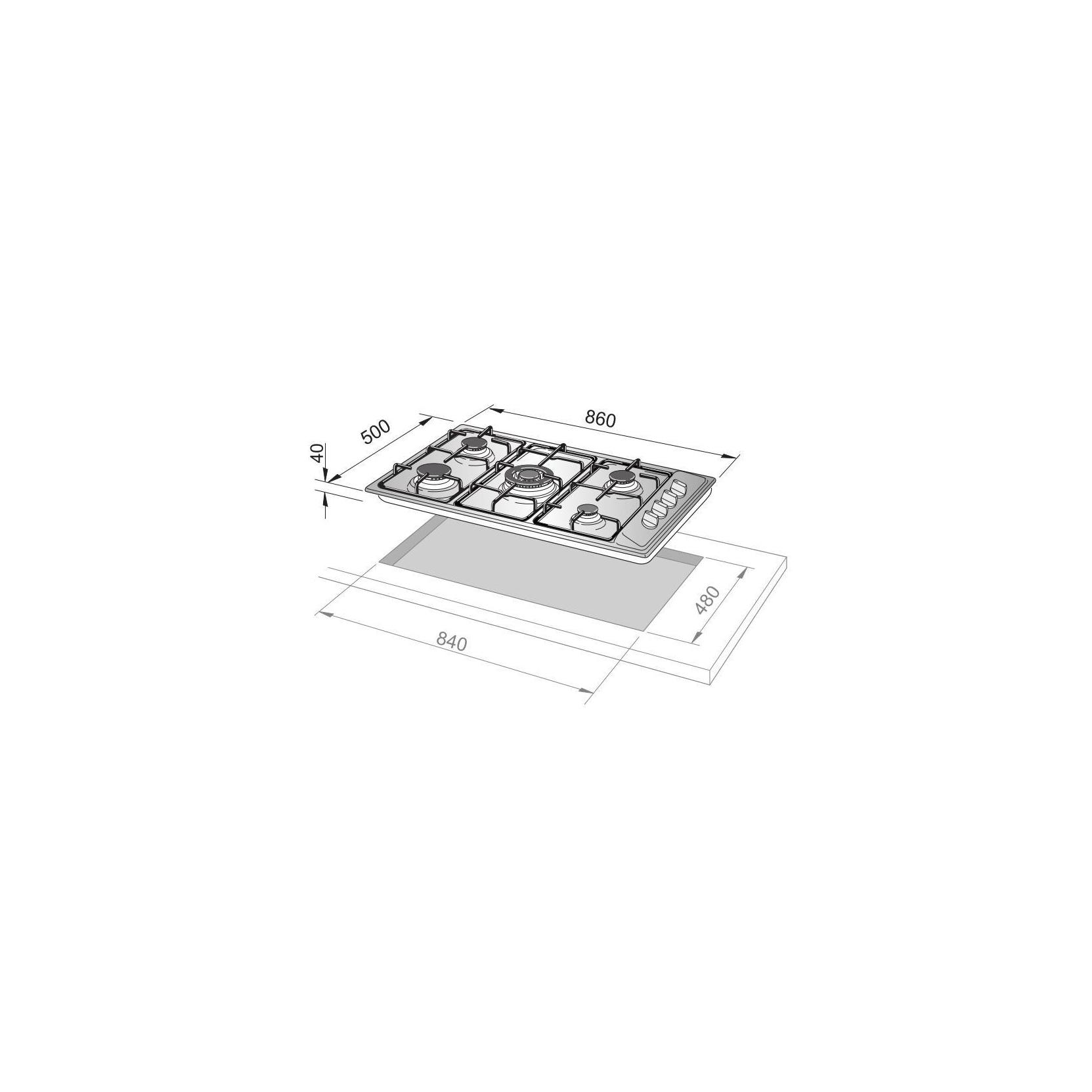 PIANO COTTURA DE LONGHI YAL59ASDV INOX 86X50 5 FUOCHI TRIPLA CORONA  GARANZIA ITALIA- PROMOZIONE - Elettrovillage
