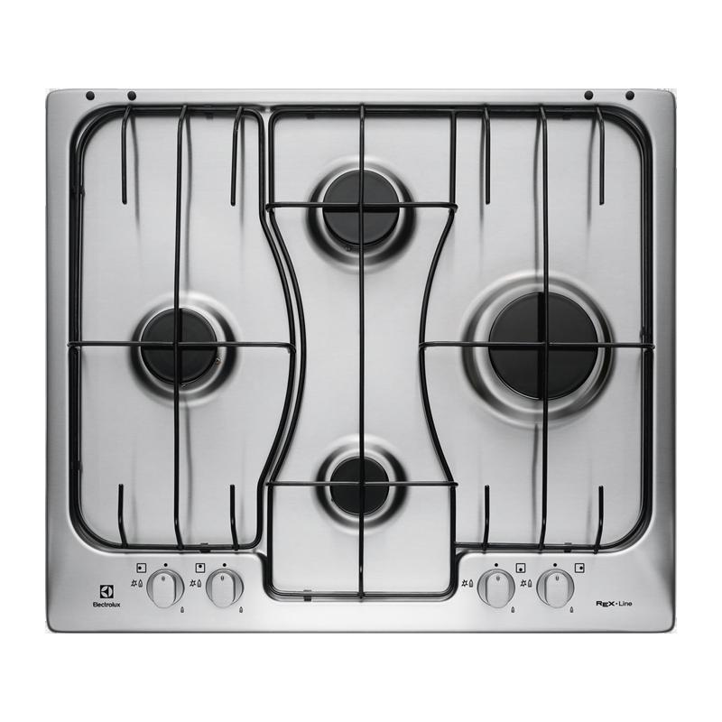 ELECTROLUX PIANO COTTURA 60CM RGG6242LOX A GAS 4 FUOCHI COLORE INOX ...