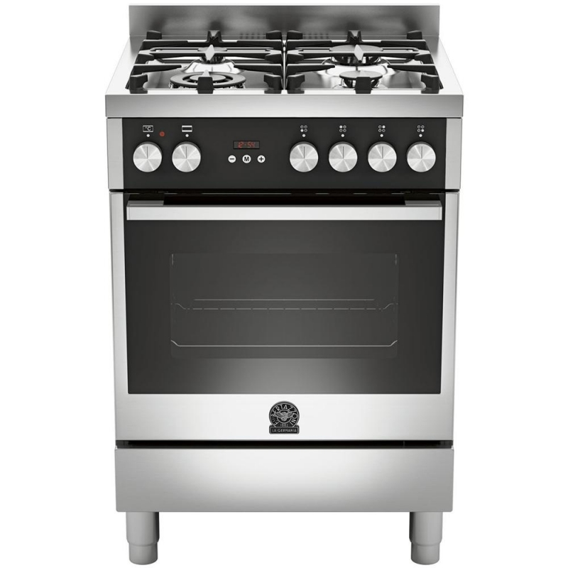 La germania cucina tu64c61bxt 4 fuochi a gas forno elettrico cm 60 x 60 inox garanzia italia - Cucine a gas samsung ...