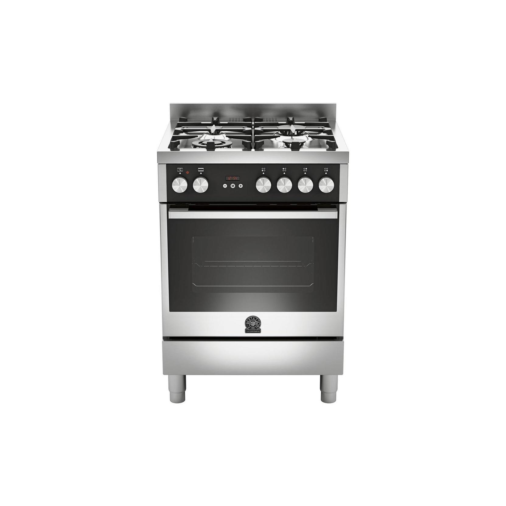 La germania cucina tu64c61bxt 4 fuochi a gas forno elettrico cm 60 x 60 inox garanzia italia - Cucine a gas la germania ...