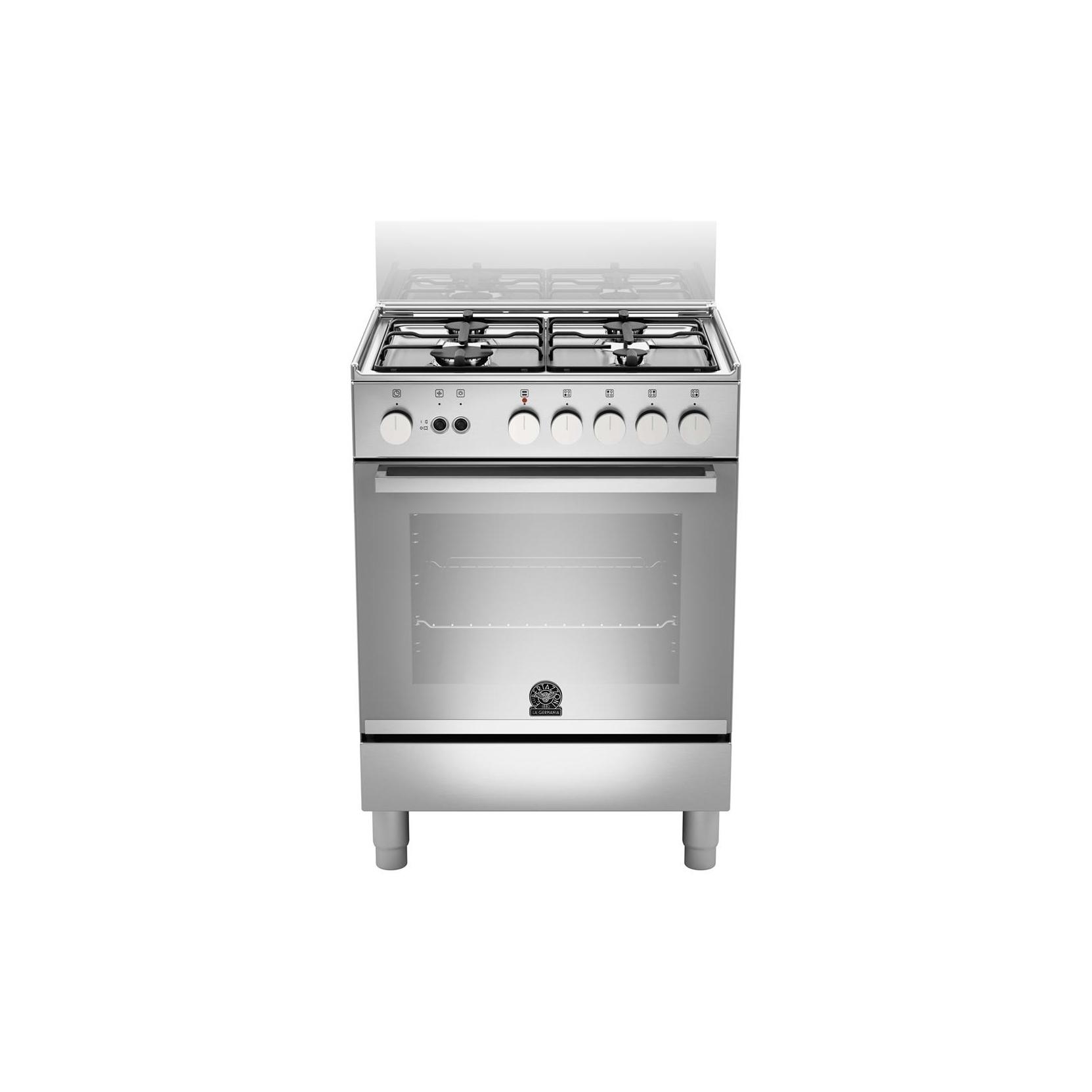 La germania cucina tu14071dx 4 fuochi a gas 60x50 inox forno gas ventilato garanzia italia - Cucina a gas in offerta ...