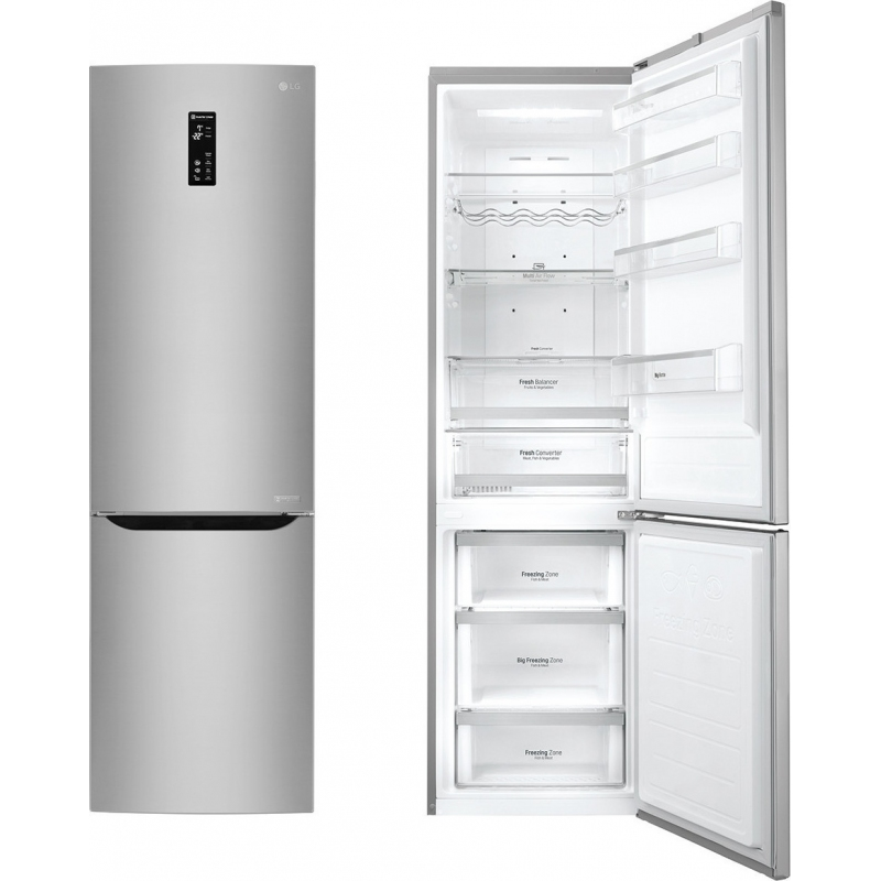 lg frigorifero combinato gbb60nsffs capacit 343 litri classe a total no frost 60 cm inox. Black Bedroom Furniture Sets. Home Design Ideas