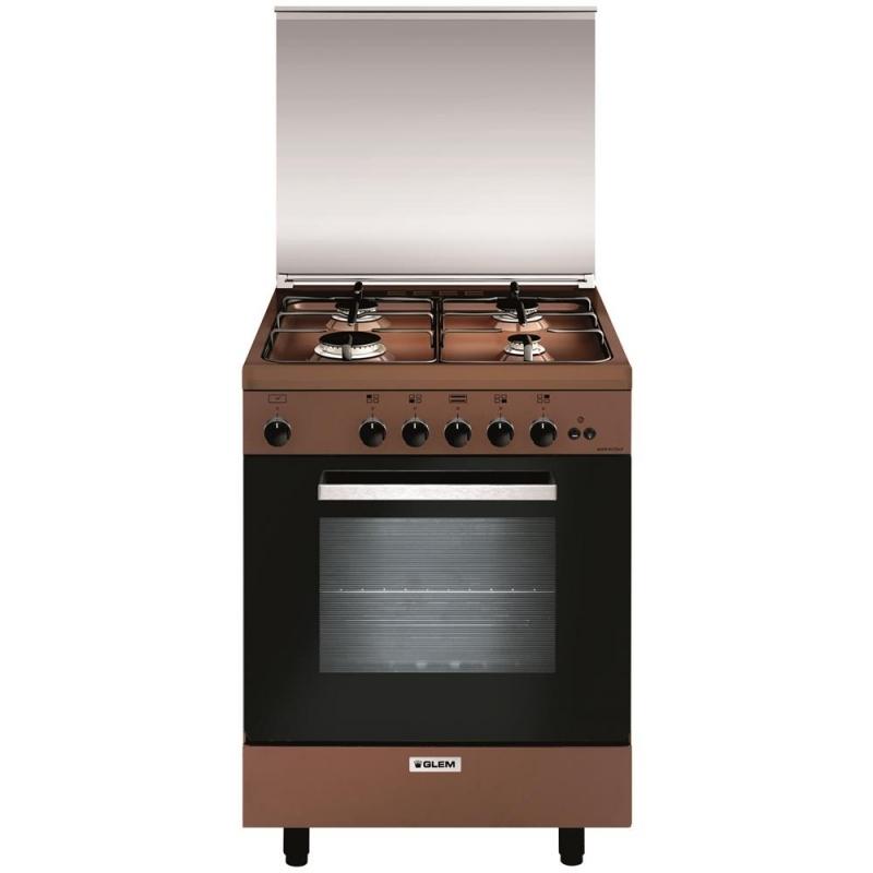 Glem cucina a gas a664gc 4 fuochi a gas forno a gas classe a 60x60 cm colore coppertone garanzia - Cucine a gas samsung ...