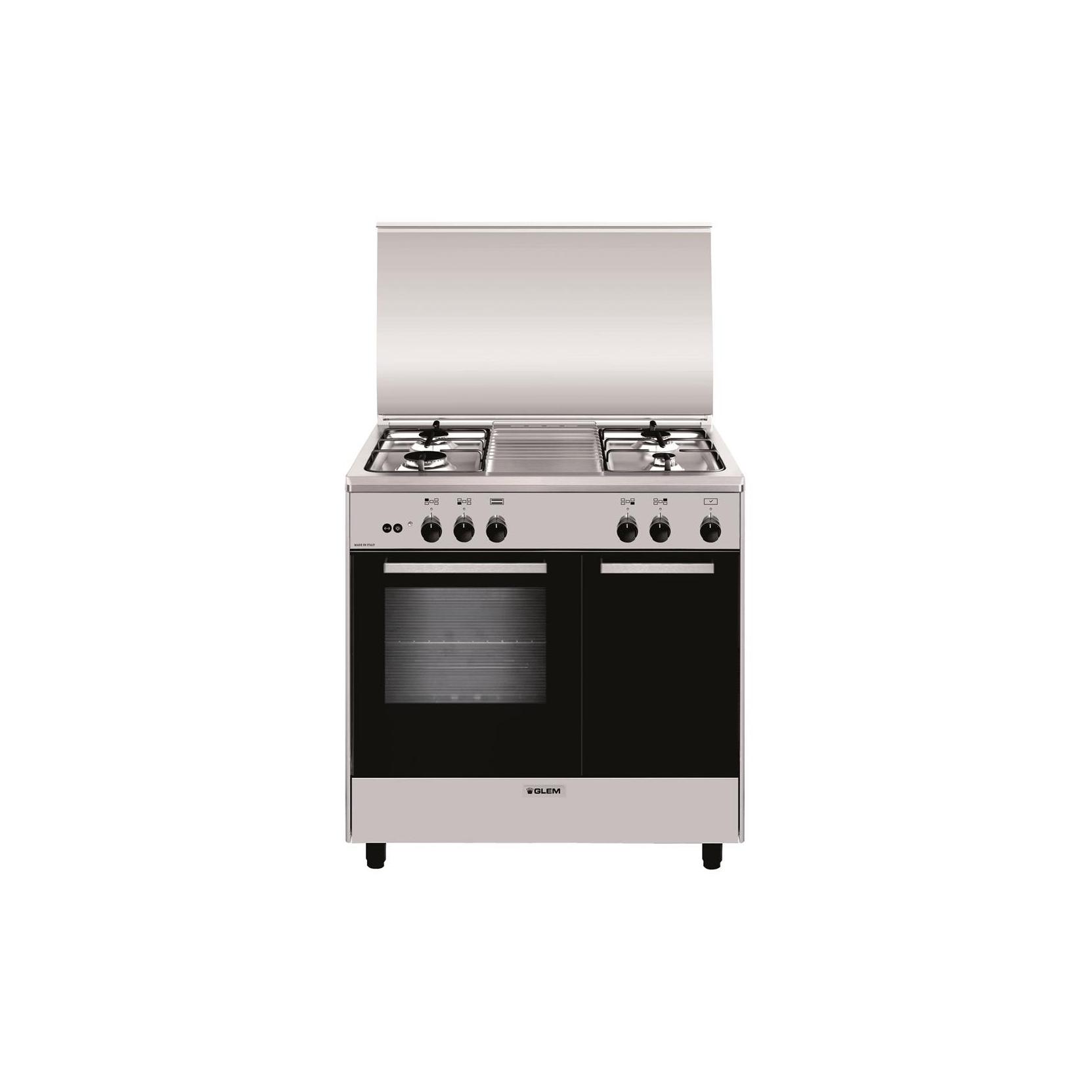 Glem cucina a gas ar854gi 4 fuochi a gas forno a gas classe a 80x50 cm colore inox garanzia - Cucine a gas samsung ...