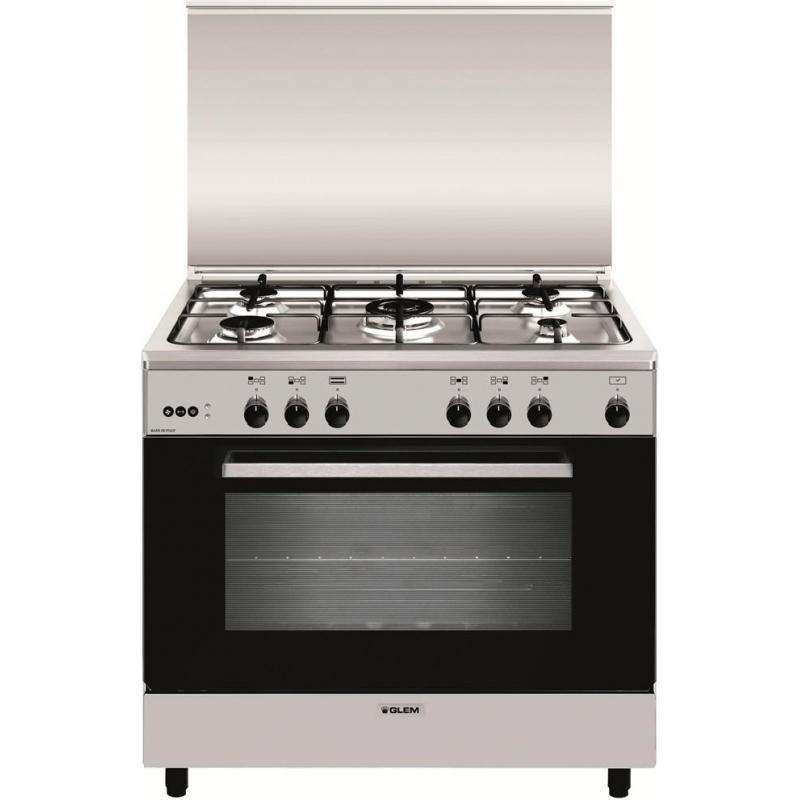 Cucina a gas glem a965mi6 5 fuochi 90x60 forno multifunzione elettrico promozione elettrovillage - Cucine a gas samsung ...