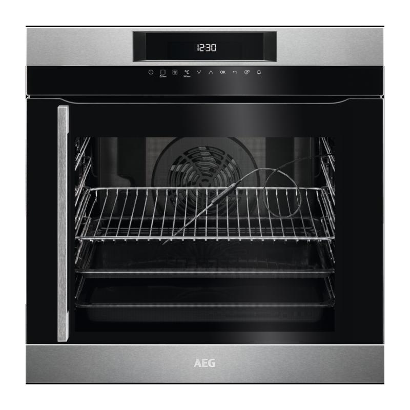 Aeg bek742r21m forno multifunzione elettrico da incasso cm 60 a 74 litri inox apertura a libro - Forno da incasso aeg ...