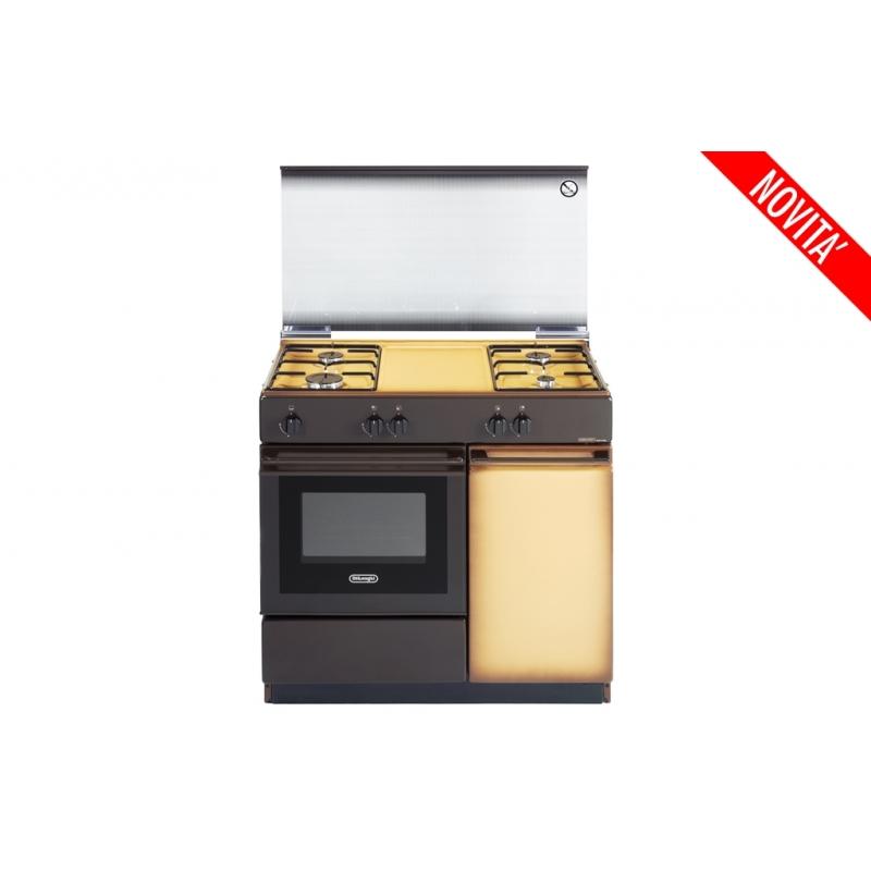 CUCINA DE LONGHI SGK854N 86X50 COPPERTONE FG VALV, COPERCHIO IN CRISTALLO - PROMOZIONE