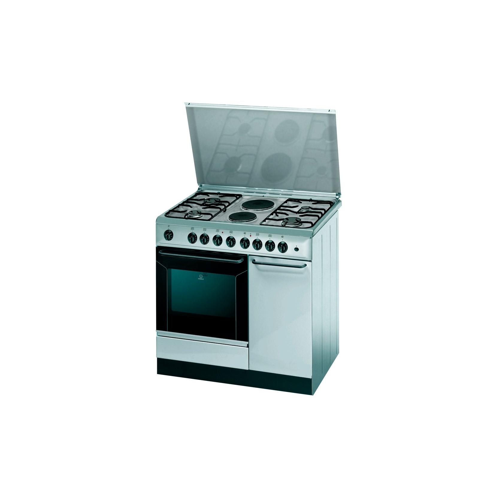 Cucina indesit k9b11sb x i con p bombola 90x60 inox 4 fuochi 2 piastre elettriche - Cucine a gas indesit ...