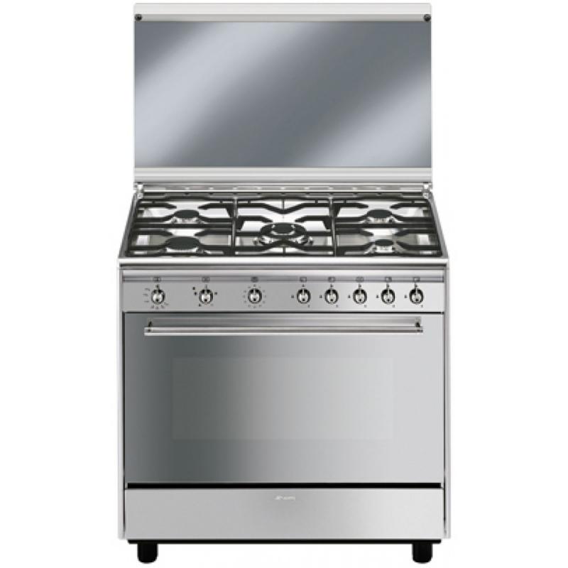 Cucina Smeg Sx91gve Forno A Gas 5 Fuochi 90x60cm Colore Inox Classe