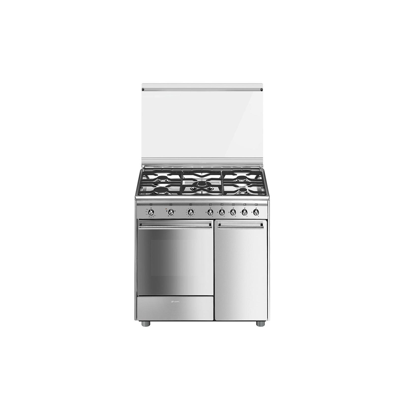 Cucina smeg cx91gve 90x60cm 5 fuochi forno a gas ventilato - Cucina a gas smeg ...