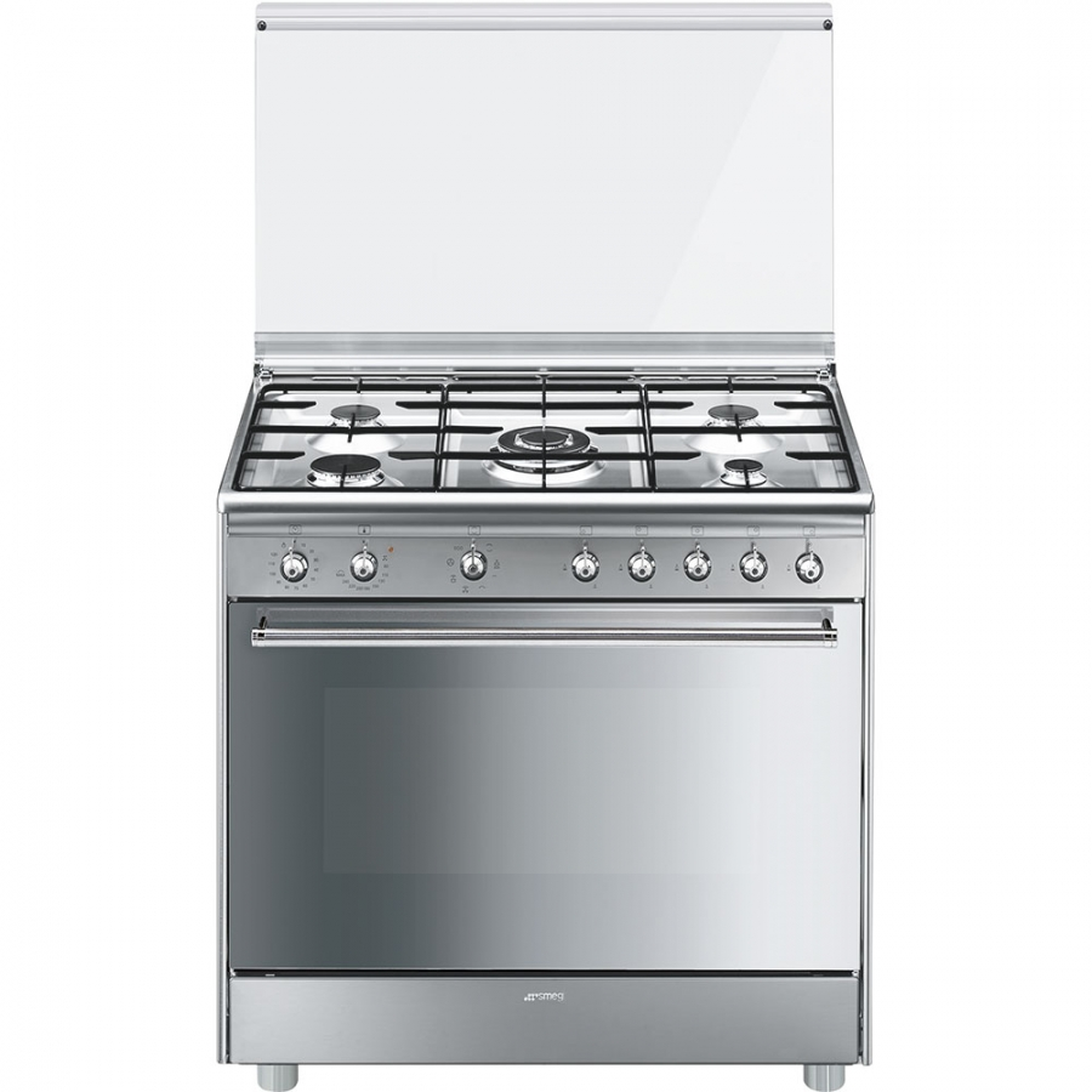 Cucina smeg sx91m9 inox forno elettrico ventilato 90 - Cucina a gas da 90 ...