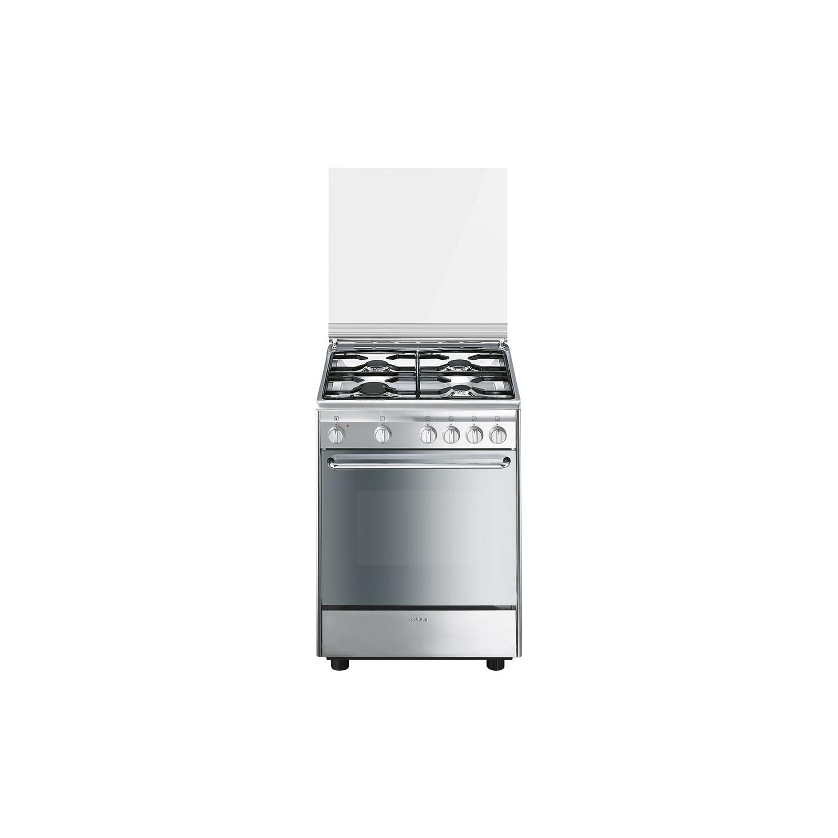 Cucina smeg cx6sv9 inox 60 60 4 f forno elettrico 6 funzioni promozione elettrovillage - Cucine ariston forno elettrico ...