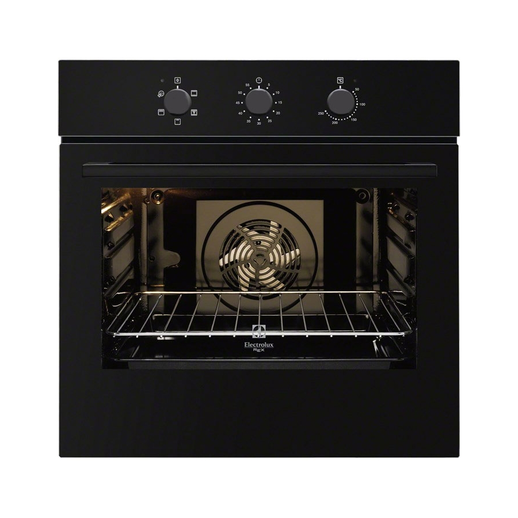 Forno incasso rex electrolux fq53n nero ventilato funzione pizza promozione elettrovillage - Forno a gas ventilato da incasso ...