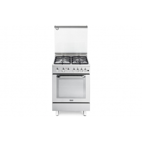 CUCINA DE LONGHI DGVX664NEW 60X60 4 FUOCHI - FORNO GAS VENTILATO - INOX - IMMEDIATAMENTE DISPONIBILE