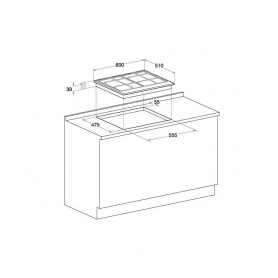 HOTPOINT ARISTON PCN642T/IX/HAR INCASSO PIANO COTTURA A GAS 4 FUOCHI INOX - PROMOZIONE