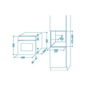 ARISTON HOTPOINT FT 820.1 (AV) /HA S - FT820.1AV/HAS FORNO ELETTRICO DA INCASSO 7 FUNZIONI 56 LITRI CLASSE A COLORE AVENA