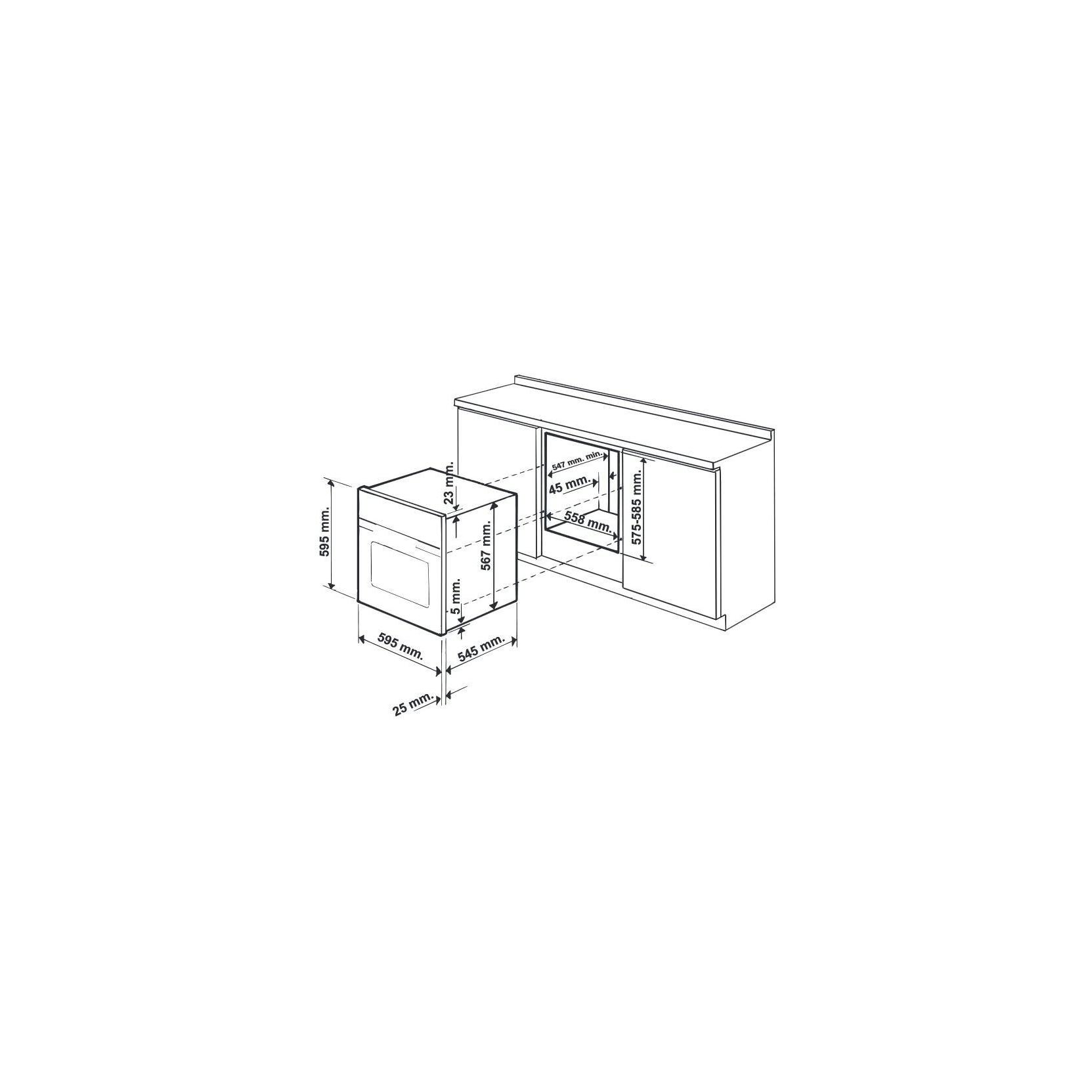 ARISTON HOTPOINT FT820.1(AN)/HA S FORNO DA INCASSO 7 FUNZIONI