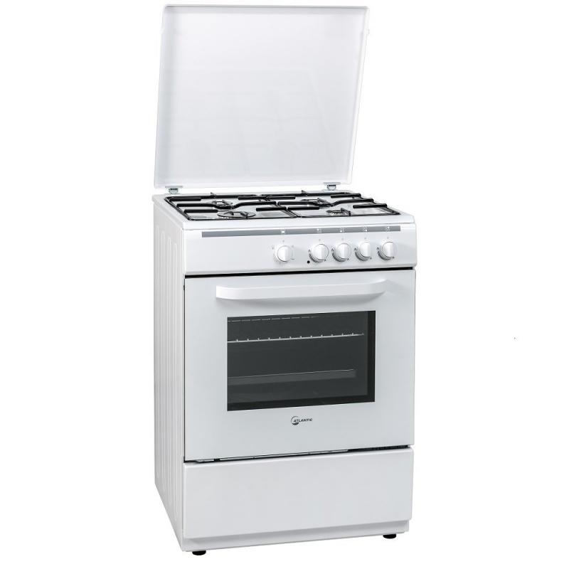 Cucina atlantic atmc55 50 50 bianca 4 fuochi forno elettrico garanzia italia elettrovillage - Cucine a gas samsung ...
