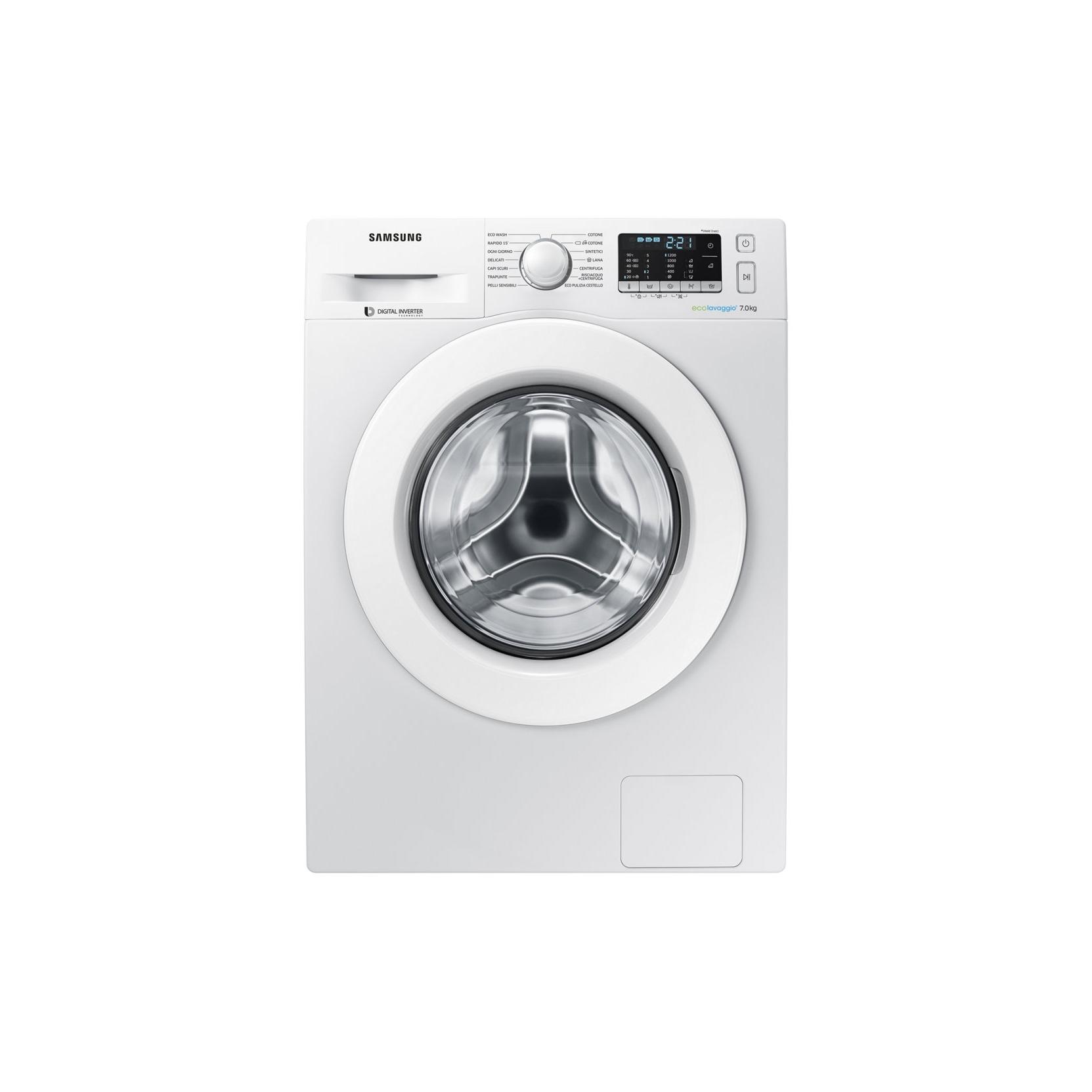 Samsung lavatrice ww70j5255mw 7kg 1200 giri motore for Motore inverter lavatrice