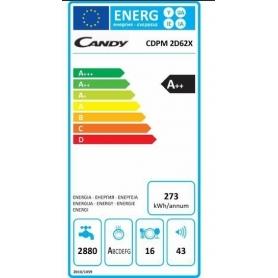 LAVASTOVIGLIE CANDY CDPM2D62X 16 COP CLASSE A++ ACCIAIO INOX - GARANZIA ITALIA