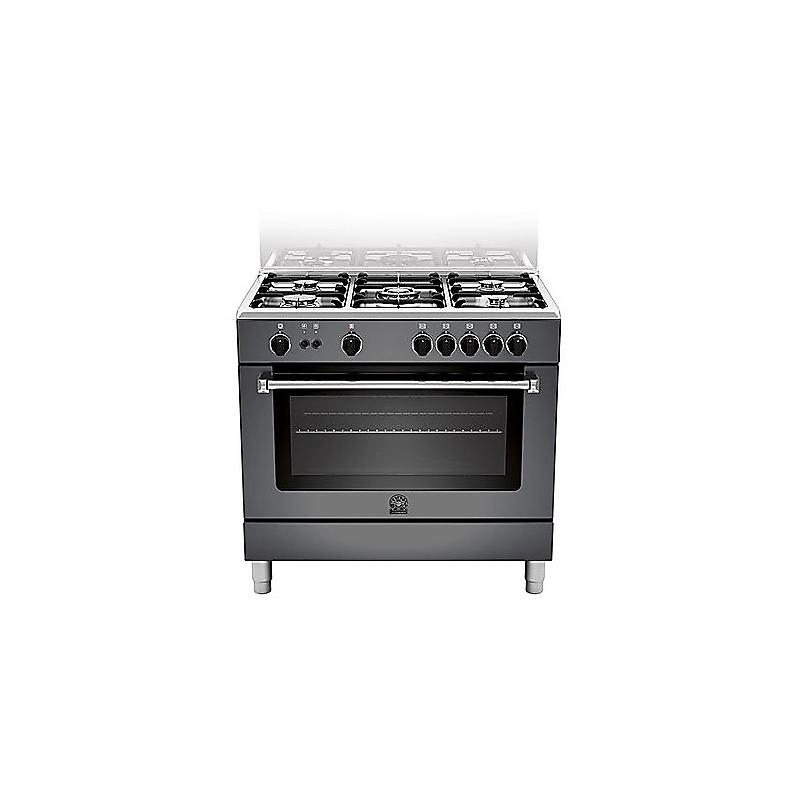 Cucina la germania am95c71cne 90x60 nera 5 fuochi forno a gas ventilato elettrovillage - Cucine a gas indesit ...