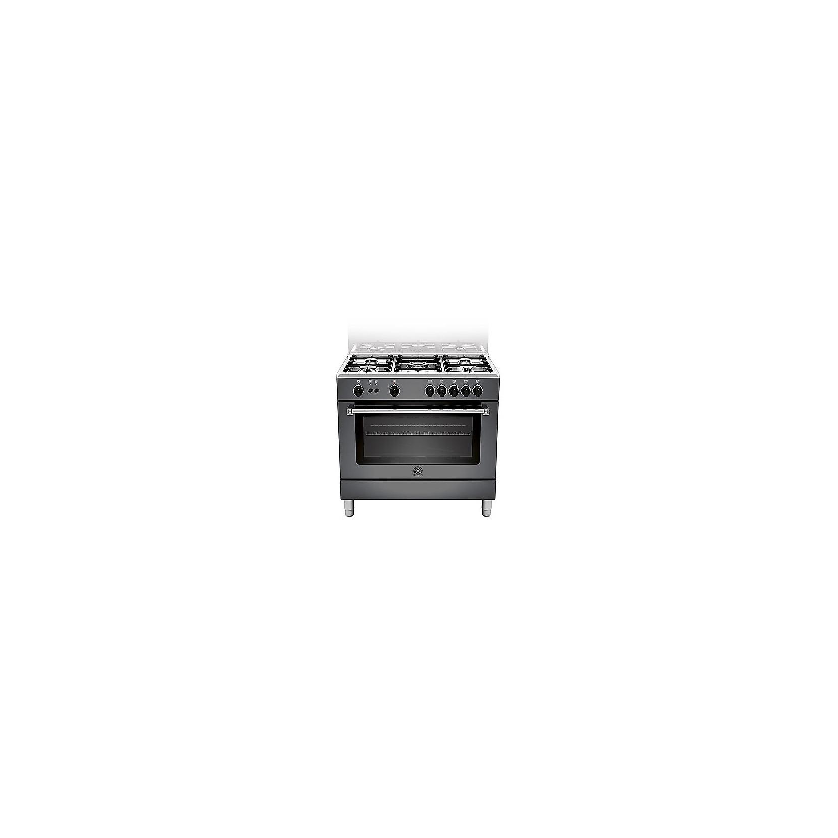 Cucina la germania am95c71cne 90x60 nera 5 fuochi forno a - Cucine a gas la germania ...