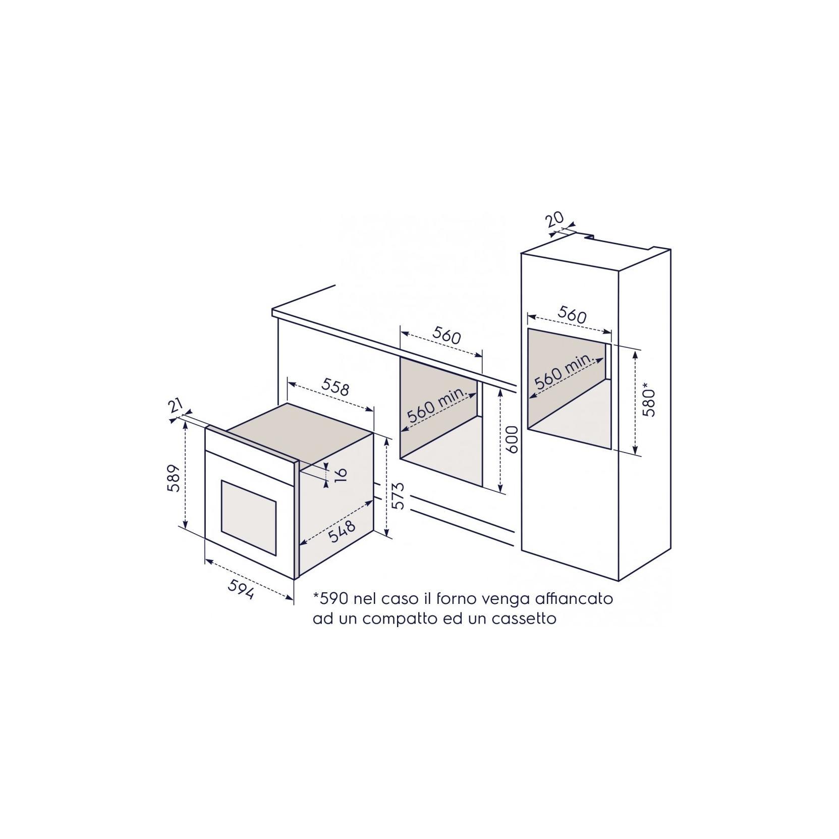 ELECTROLUX REX FR53G FORNO ELETTRICO MULTIFUNZIONE DA INCASSO 70 L ...